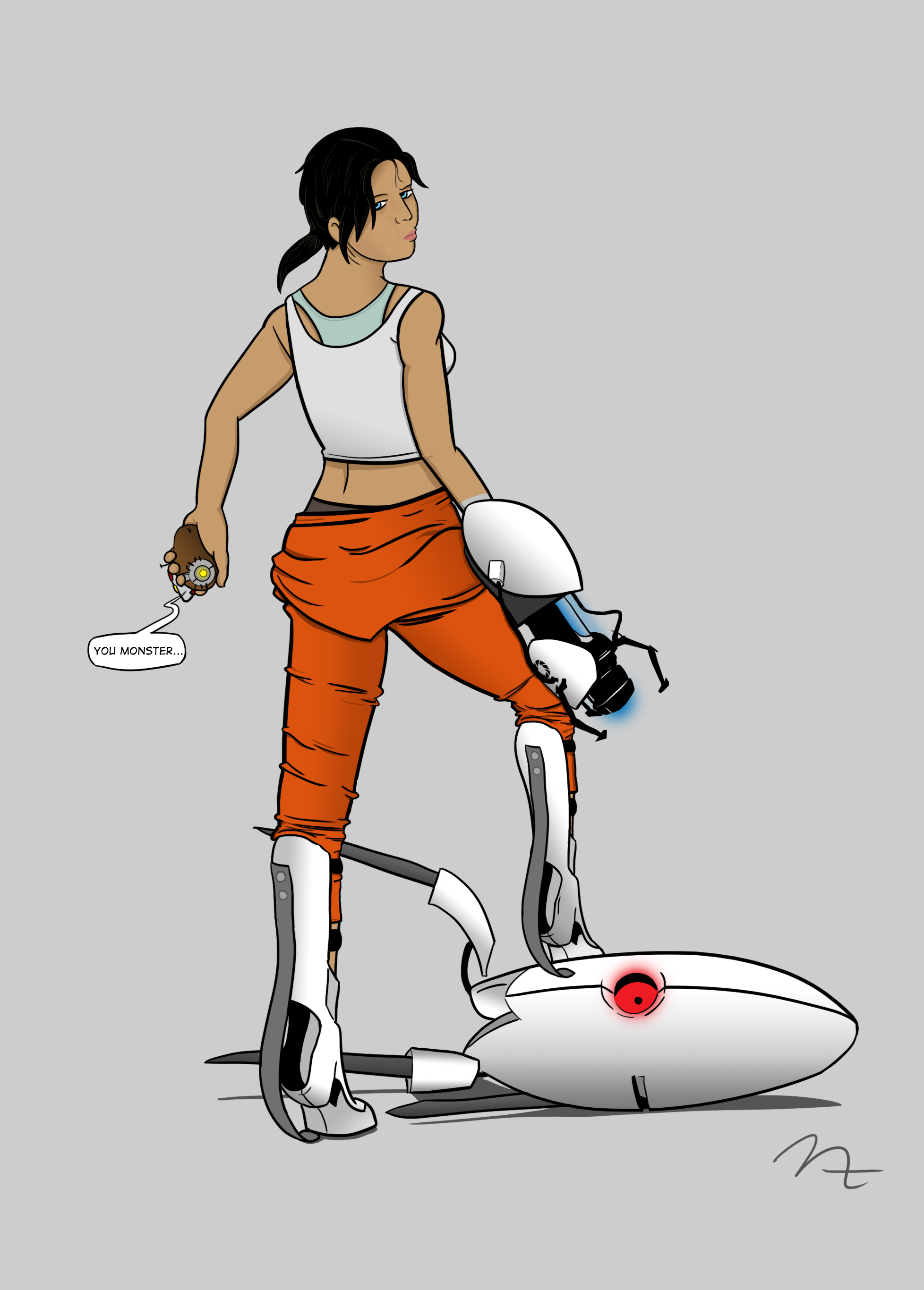 Portal Glados Chell Cake Ideas and Designs